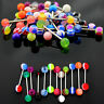 20x Tongue Nipple Eyebrow Bar Bars Body Piercing Jewellery Rings Makeup FO