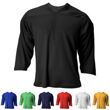 New Reebok / CCM Adult 3/4 Sleeve Air-Knit Hockey Practice Jersey in 7 Colors
