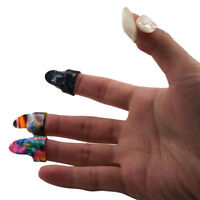 1 Thumb Pick + 3 Finger Picks Plectrums Guitar Plastic New
