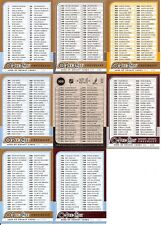 2008-09 OPC O-Pee Chee Complete Checklist Set (8)
