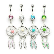 Dream Catcher 14G 12mm Length Piercing 12-1 3 Pcs Belly Button Ring More Color