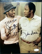 "JIMMY WALKER & JOHN AMOS ""GOODTIMES"" DUAL  Signed  8x10 JSA"