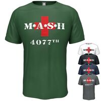 MASH T-Shirt 4077th TV Military Army Inspired Birthday Gift Vintage Style S-5XL