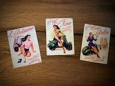 3er set Vespa pegatinas retro italia Oldtimer vintage Love Roller scooter #195