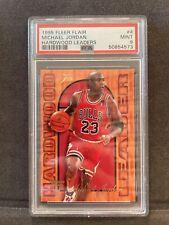 1995-96 Fleer Flair Michael Jordan Hardwood Leaders #4 PSA 9