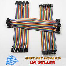 40pcs 20cm Dupont Line Jumper Wire Ribbon 1P-1P M-F M-M F-F Lead Pin Connector