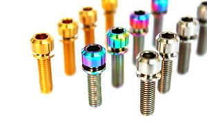 4pcs Titanium M6 x 16/18/20/25mm  Cylinder Hexagon Socket Head Bike Screws