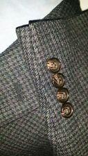 46R Ralph Lauren Verde Púrpura Tweed Cuadros Diseño 'Pata de Gallo '