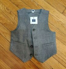Janie and Jack Boys Grey Wool Holiday/Special Occasion Vest: Size 3T