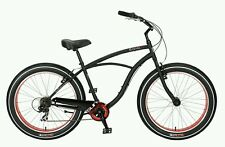 BICICLETA SUN BAJA  CRUZ CRUISER BIKE BEACH 7V BLACK MATE