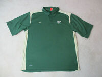 NIKE USF Bulls Polo Shirt Adult Extra Large Green Gold South Florida Football