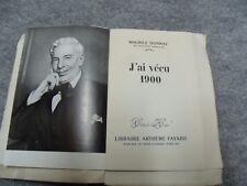 589 Maurice Donnay - J'ai vécu 1900 - pages non massicotées ex 22/50 - 1950
