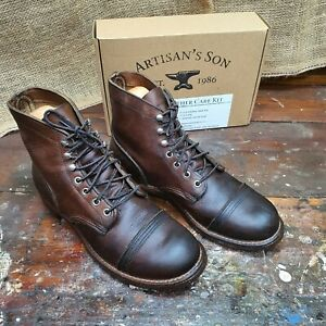 """RED WING 8111 HERITAGE 6"""" IRON RANGER BOOT VIBRAM Redwing Free LEATHER CARE KIT"""