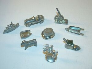 Vintage PEWTER Monopoly TOKENS Game Pieces