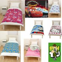 NEW SOFT FLEECE BLANKETS CHILDREN BOYS GIRLS NOVELTY TV CHARACTERS THROWS GIFTS