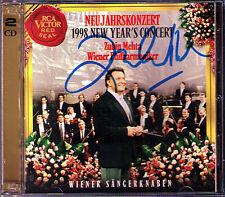 Zubin MEHTA Signiert 1998 Neujahrskonzert aus Wien New Years Concert Vienna 2CD