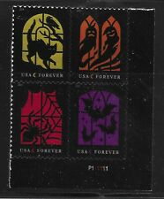 US Scott #5420-23, Plate Block #P111111 2019 Halloween VF MNH Lower Right