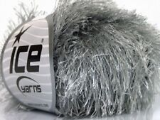 Silver Grey Long Eyelash Yarn 22794-50635 Ice Solid Silver Gray Fur 50gr 70y