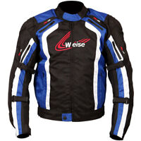 Weise Corsa Black/Blue Sports Racing Waterproof CE Approved Motorcycle Jacket
