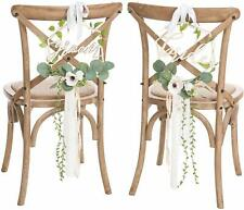 Ling's Moment Mr Mrs Sign Chair Decor for Wedding Chair Signs for Bride and