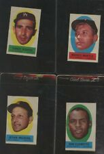 1963 Topps Peel Offs Lot of 4 Mantle Clemente Koufax Musial