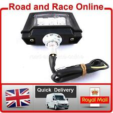 Replacement Number Plate LIGHT 12v LED Emarked Black Universal Fitting Fits All
