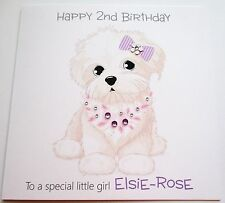 Personalised Birthday Card - Special Girl, Granddaughter 1st, 2nd, 3rd