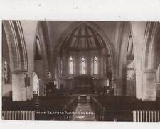 Seaford Parish Church Sussex Vintage Postcard 752a