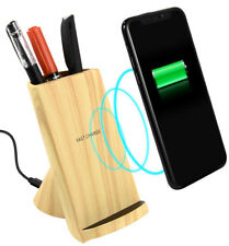 10W FAST WIRELESS CHARGER VIEW STAND ORGANIZER UNIVERSAL FOR Qi ENABLED PHONE