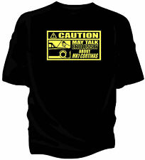 'Caution' classic car t-shirt - 'May Talk Endlessly About.....Mk1 Ford Cortina