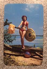 Vintage 1950s Florida Beach Bikini Real Photo Postcard