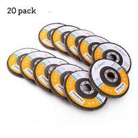 20x Grinder Sanding Discs Flat Flap Disc TR27 Grinding Polishing Wheels 80 Grit