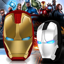 Iron Man Mouse Silent Wireless Gaming Mouse LED Optical Mouse For PC Laptop New