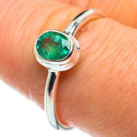 Zambian Emerald 925 Sterling Silver Ring Size 8.25 Ana Co Jewelry R46622F