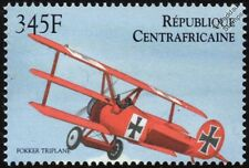 WWI Fokker Triplane / Dreidecker Aircraft Stamp (2000 Central African Republic)