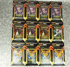 x12 Pokemon TCG Hidden Fates Sealed Blister Booster Packs + 60 Bonus Cards Lot