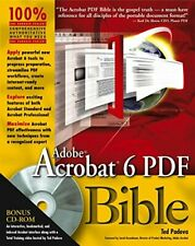 Adobe Acrobat 6 PDF Bible by Padova, Ted Paperback Book The Cheap Fast Free Post