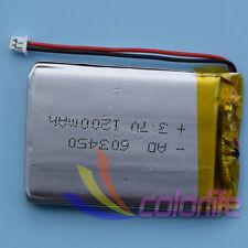 3.7V 1200mAh 603450 Batería recargable de Li-polímero XH 2P 1.0 Conector Para Gps