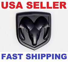 Matte Black 3D Head Emblem Replace OEM Mopar Dodge Ram 1500 2500 3500 Charger