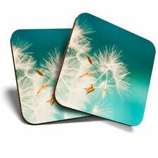 2 x Coasters - Pretty Dandelion Flower Mum Home Gift #3860