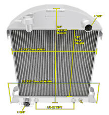 1928-1929 Ford Model A Ford configuration Champion Aluminum 3 Row Radiator