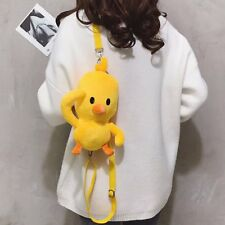 Lovely duck stuffed plush shoulder bag backpack small fashion cosplay bag