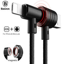 Baseus Portable 2in1 Magnetisches Micro USB Ladekabel Für iPhone Samsung Android