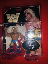 WWE MATTEL RETRO RIC FLAIR WITH RINGSIDE DEFENDER HARD CASE! Nice!