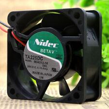 NIDEC TA225DC M34313-16 24V 0.16A 6CM 60*60*25MM 2Pin Cooling Fan