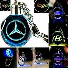 Keychain Car Logo Crystal   Light Changing Car KeyRing color LED Light UK