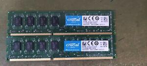 Crucial CT51264BA160B 8gb (2 x 4gb) PC3-12800 DDR3-1600 RAM 1600 MHz UDIMM