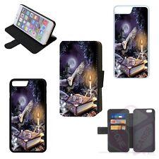 HARRY POTTER OWL Flip Phone Case Wallet Cover iPhone 4 5 6 7 8 Plus X (B)