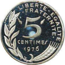 O7283 Rare 5 Centimes Piefort Marianne 1976 Argent FDC ->Faire offre