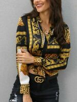 Dashiki Versace Split Sexy Luxury Elegant Party Top Women Shirt Blouse Button